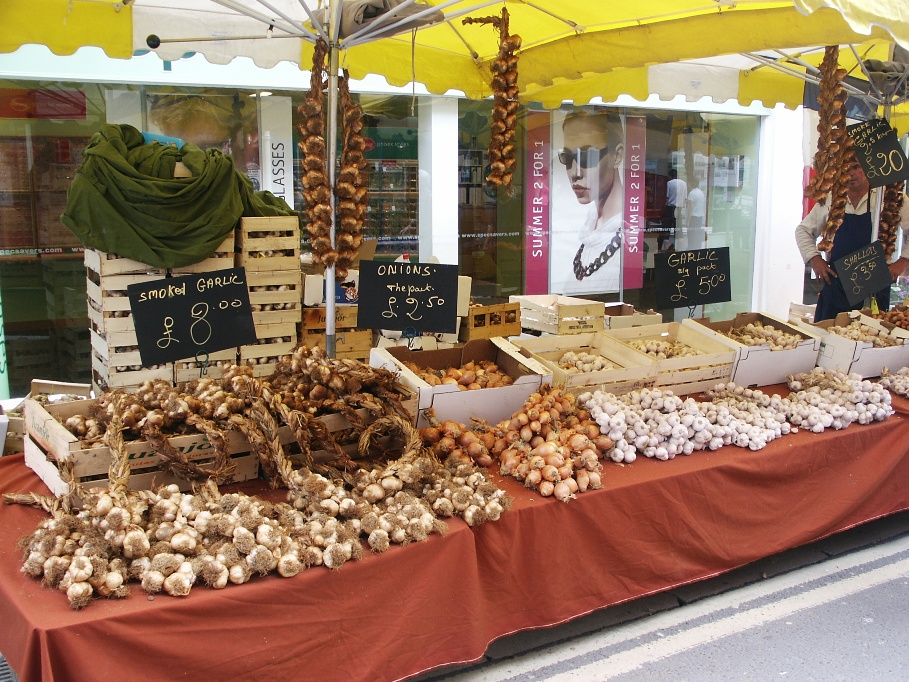 French Market in Dorchester, Dorset