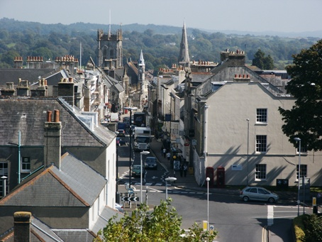 Birds Eye View of Dorchester in Dorset
