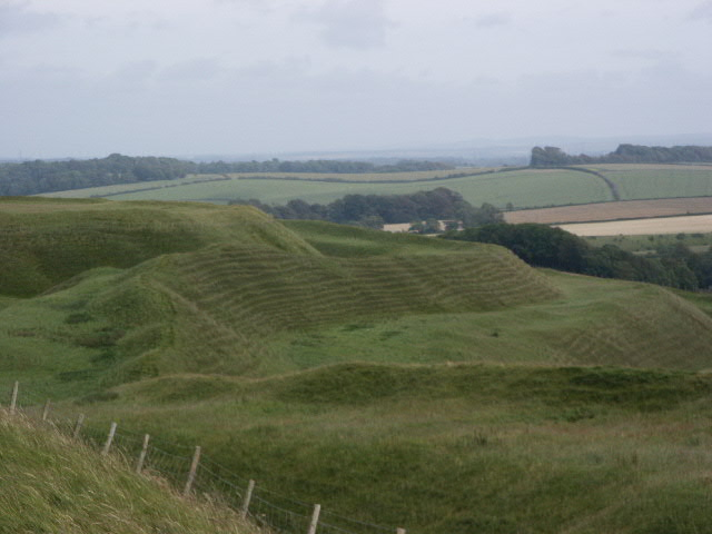 Maiden Castle in Dorchester, Dorset
